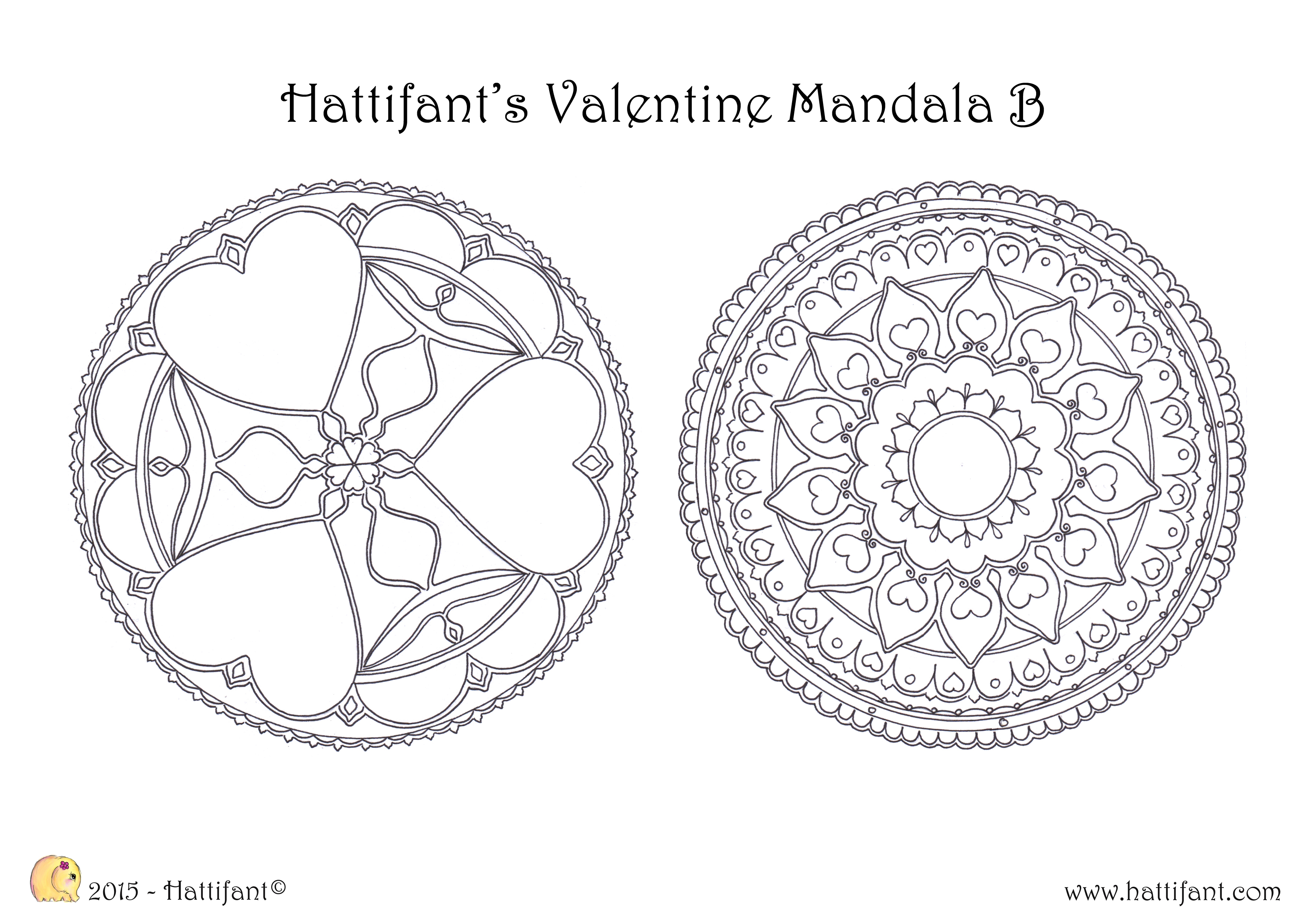 Hattifant ValentineMandala A B