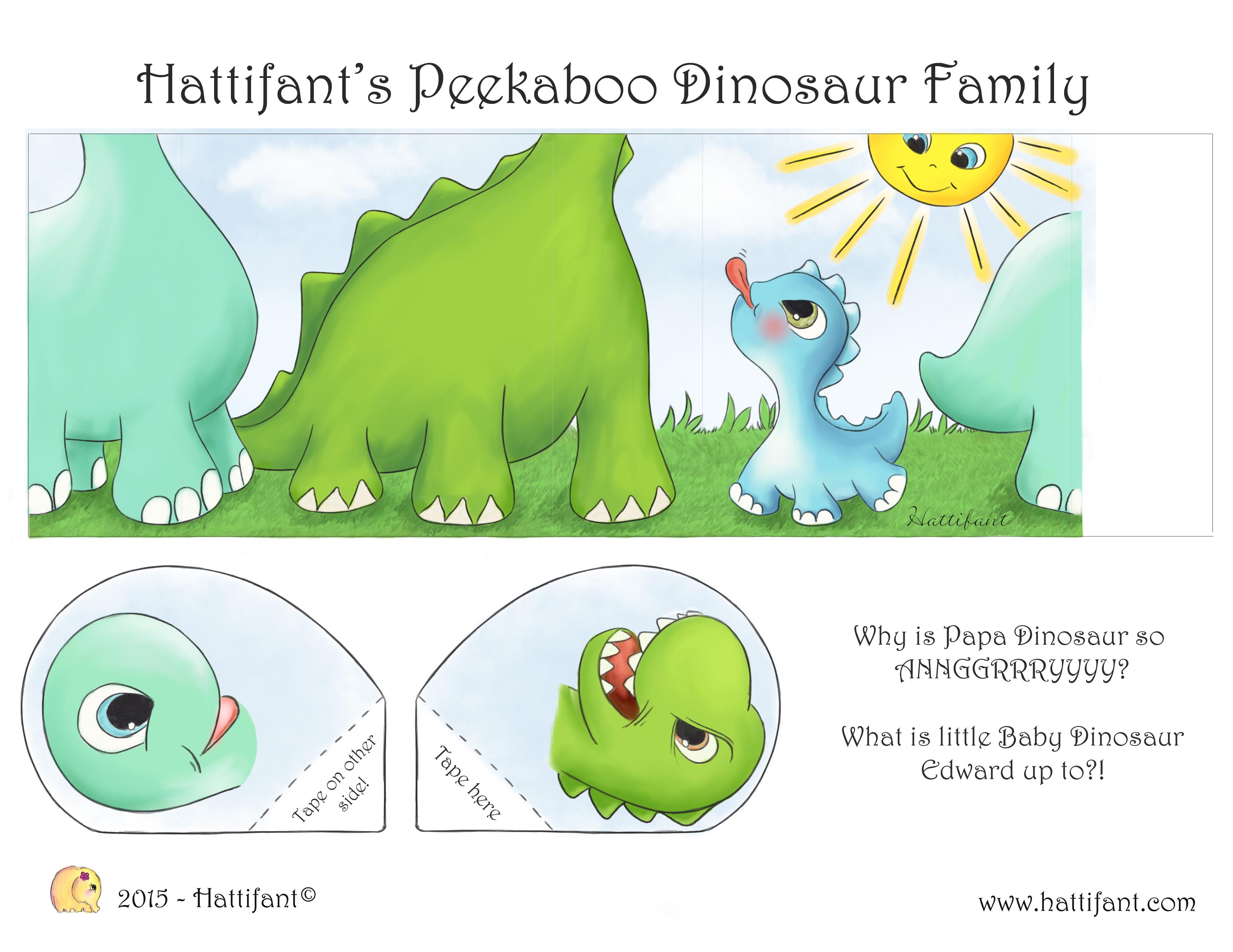 Hattifant\'s Peekaboo Dinosaur Family - Hattifant