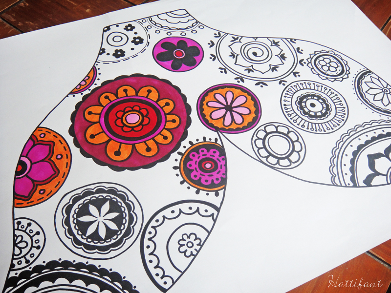 Hattifants Fancy Flippers_FlowerZentangle