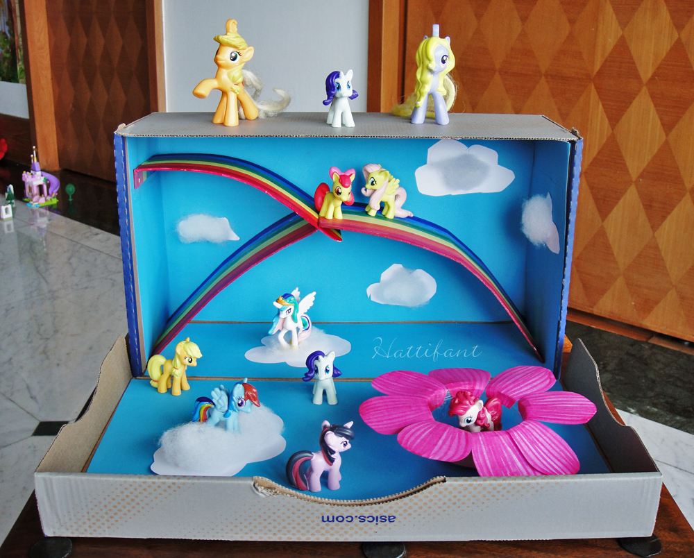 30 Shoe Box Craft Ideas: My Little Pony Magical World Out Of A Shoe Box