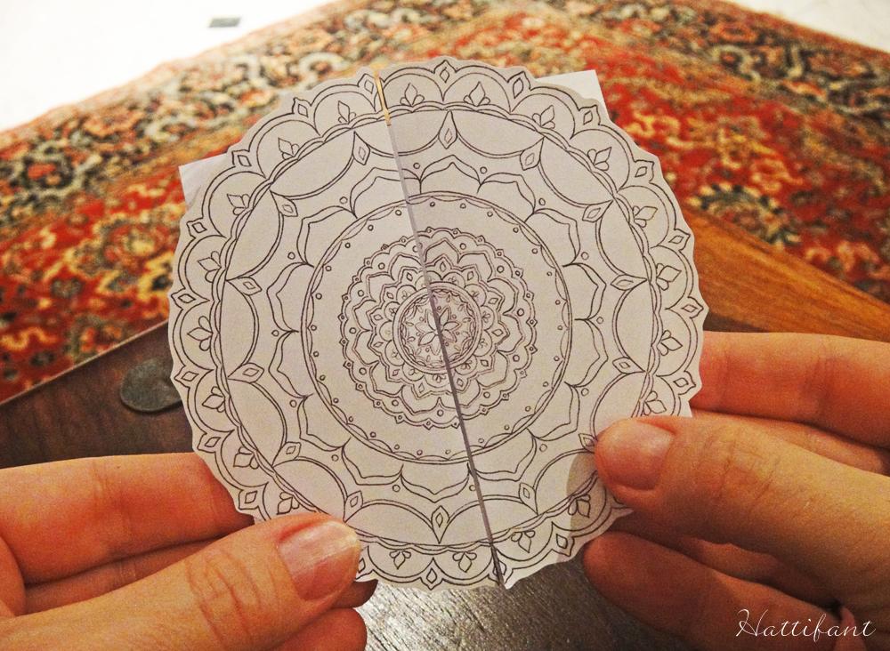Hattifant's Flower Mandala Mother's Day Card