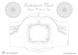 Hattifant's Flower Mandala Mothers Day Card Envelope Printout