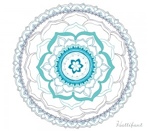 Hattifants Stress Relief LOTUS Mandala