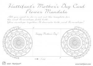 Hattifant's Flower Mandala Mother's Day Card Printout