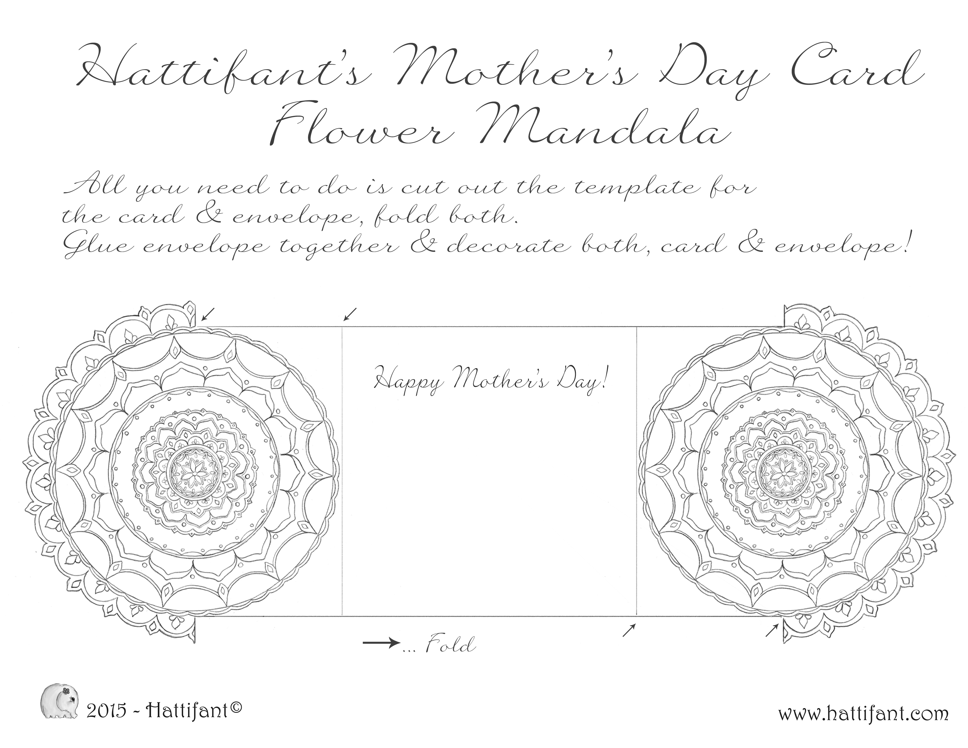 Flower Mandala Mother s Day Card Hattifant