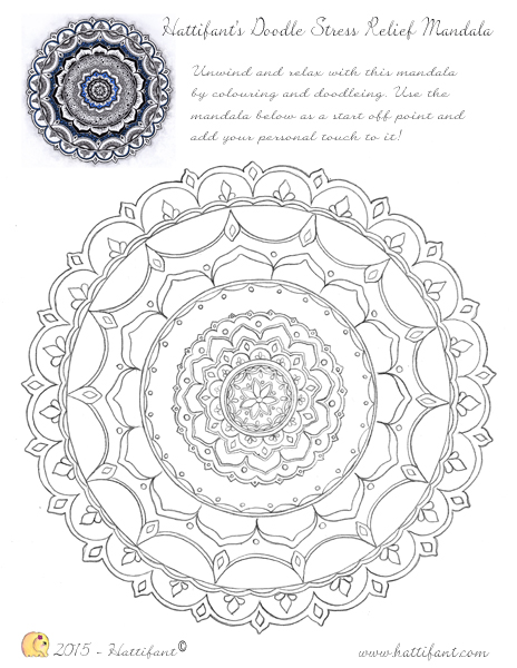 Stress Relieving Elephant Adult Coloring Pages Mandala Designs - Print Color  Craft | 600x464