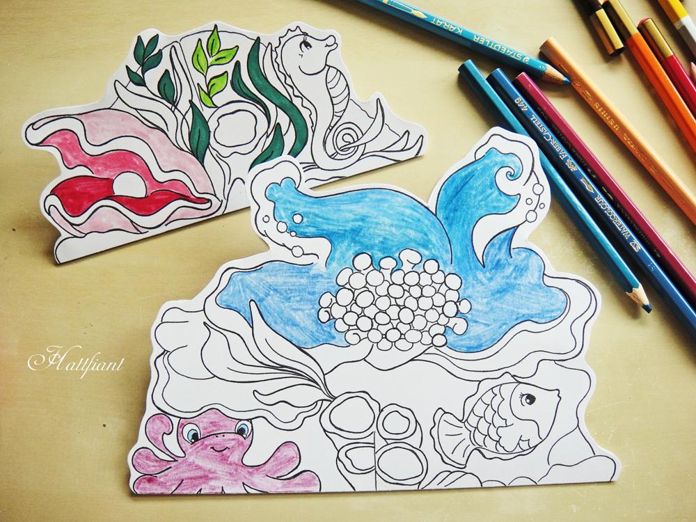 Coloring with Hattifant - Magic Mermaid World
