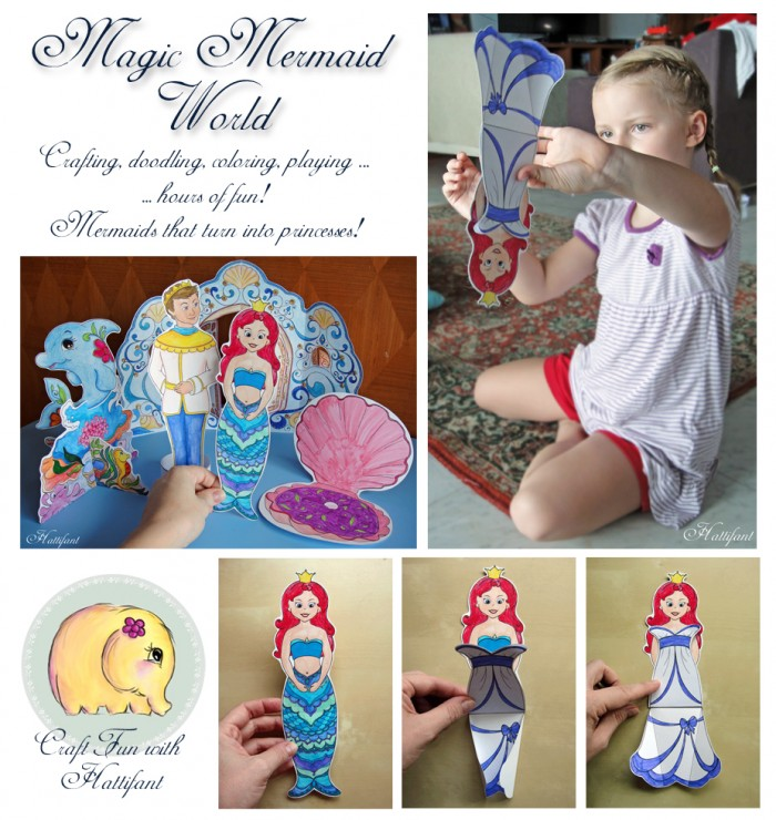 Hattifant's Magic Mermaid World Craft Bundle to Color