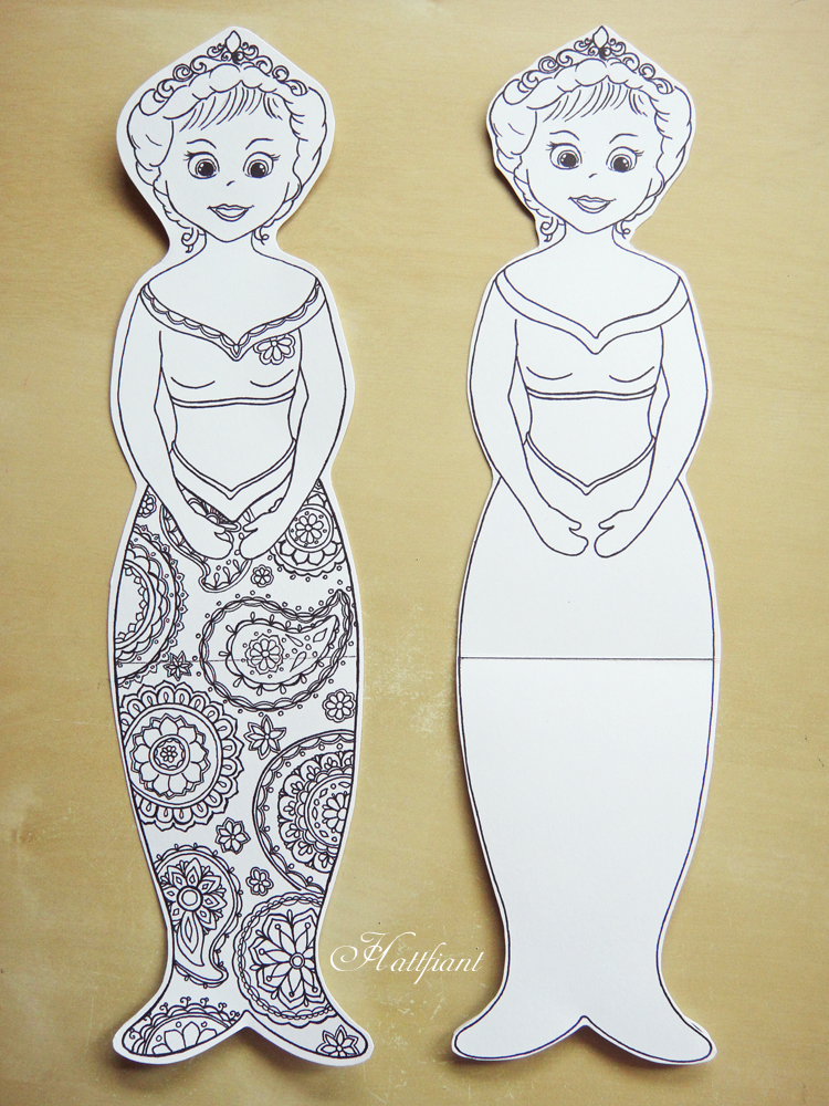 Hattifant's Mermaids - with and without pattern
