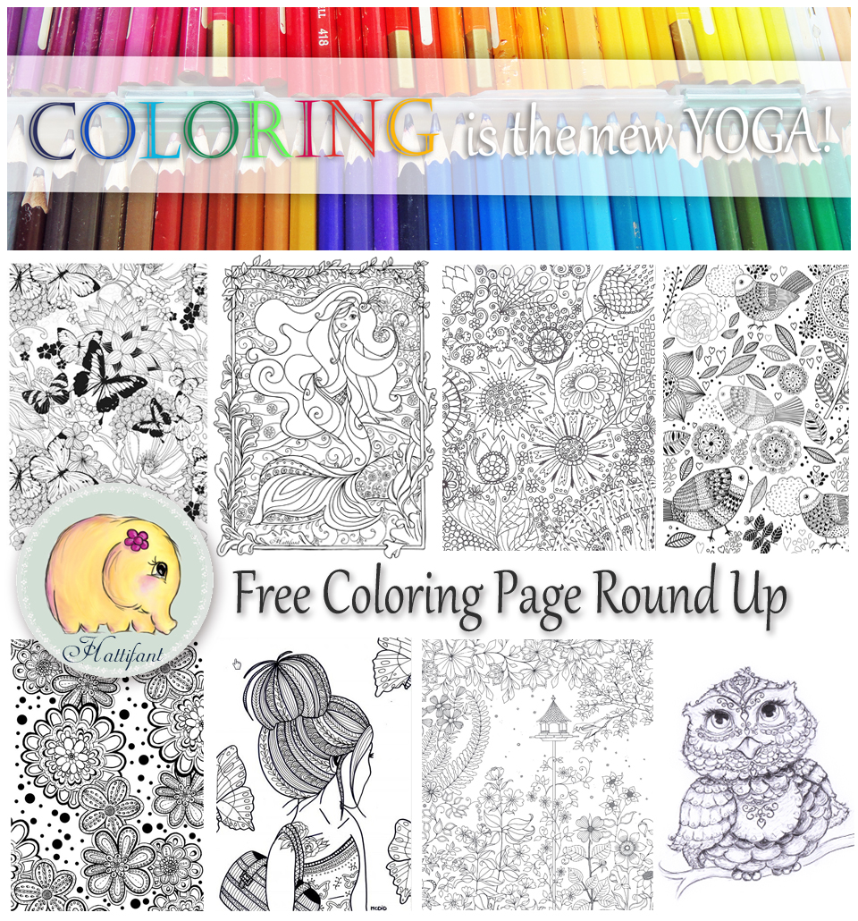 Hattifant's Grown Up Coloring Page RoundUp