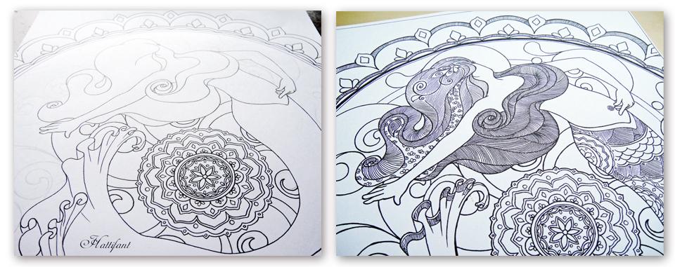 hattifants mermaid galore grown up coloring - Grown Up Coloring