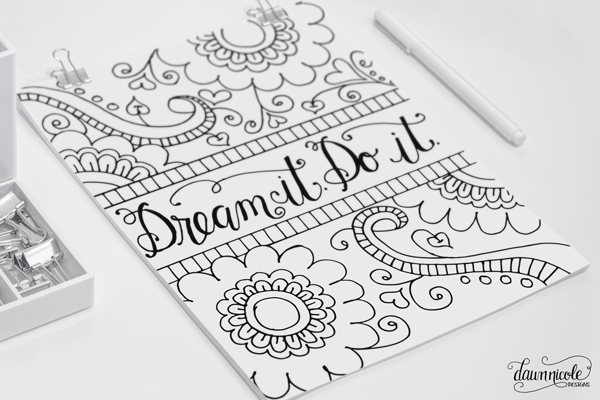 Free-Coloring-Page-Dream-it-Do-it-DawnNicoleDesigns4