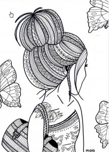 two women coloring page for adults hattifant s favorite grown up coloring pages hattifant 7923