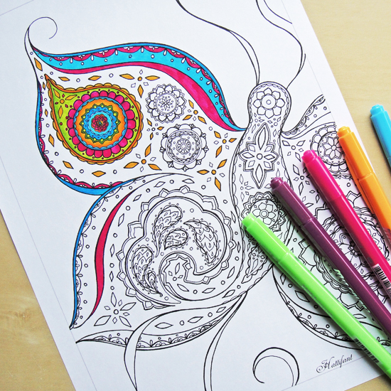 Hattifant's Butterfly Coloring Page