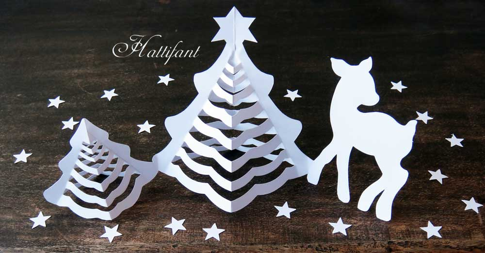 3d Paper Christmas Tree.Hattifant 3d Christmas Paper Trees Origami Craft Hattifant