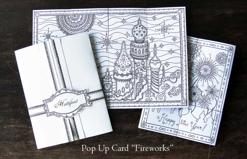 Hattifant - Pop Up Card Fireworks