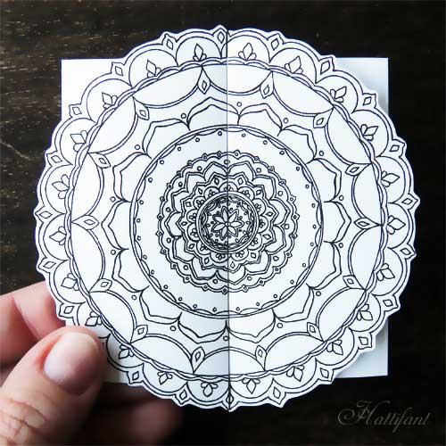 Hattifant - Mandala Cards to color
