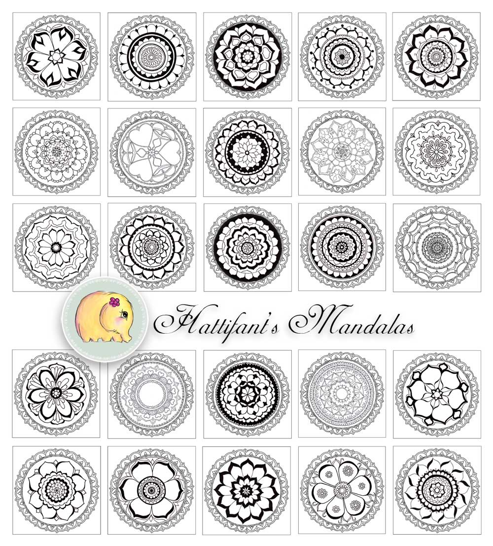 Hattifant - Mandalas to Color