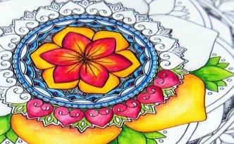 Hattifant Mandalendar FEBRUARY Calendar Coloring Page