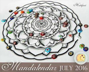Hattifant Mandalendar Calendar Coloring Page 2016 July