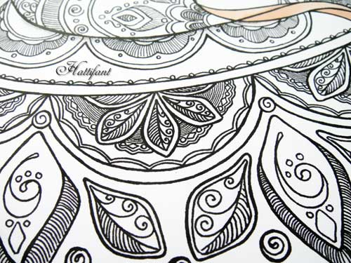 Hattifant Winter Coloring Pages Fox Detail Zentangle inspired