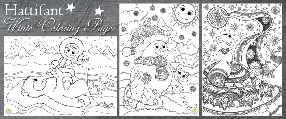 Hattifant - Winter Coloring Pages Summary