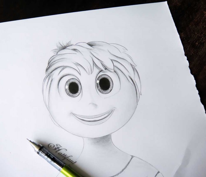 Sketch of Joy from Inside Out InsideOut Best Animated Movie Oscar Win 2016