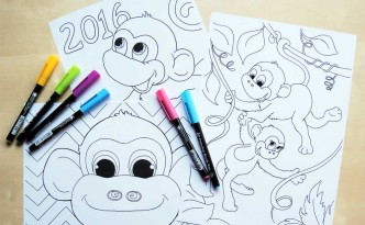 Hattifant Chinese New Year Monkey coloring pages free download
