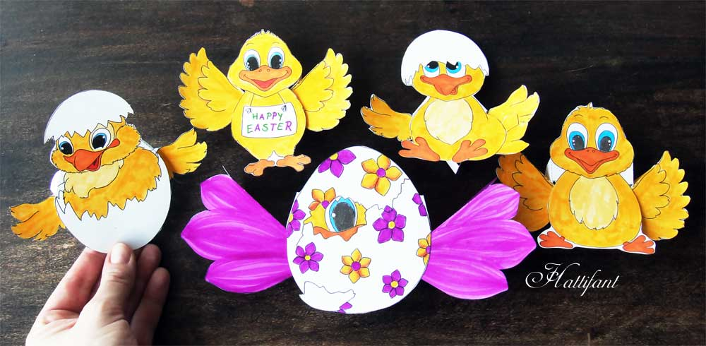 Hattifant-Easter-Chicks-Action-Paper-Toy-Set