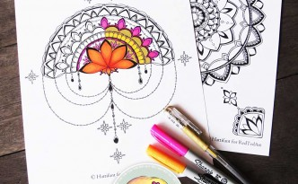 Hattifant half and full mandala Coloring Pages