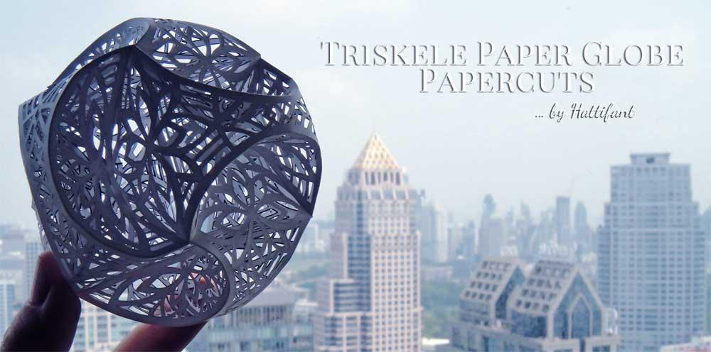 Hattifant New Triskele Paper Globe Pattern for Papercut