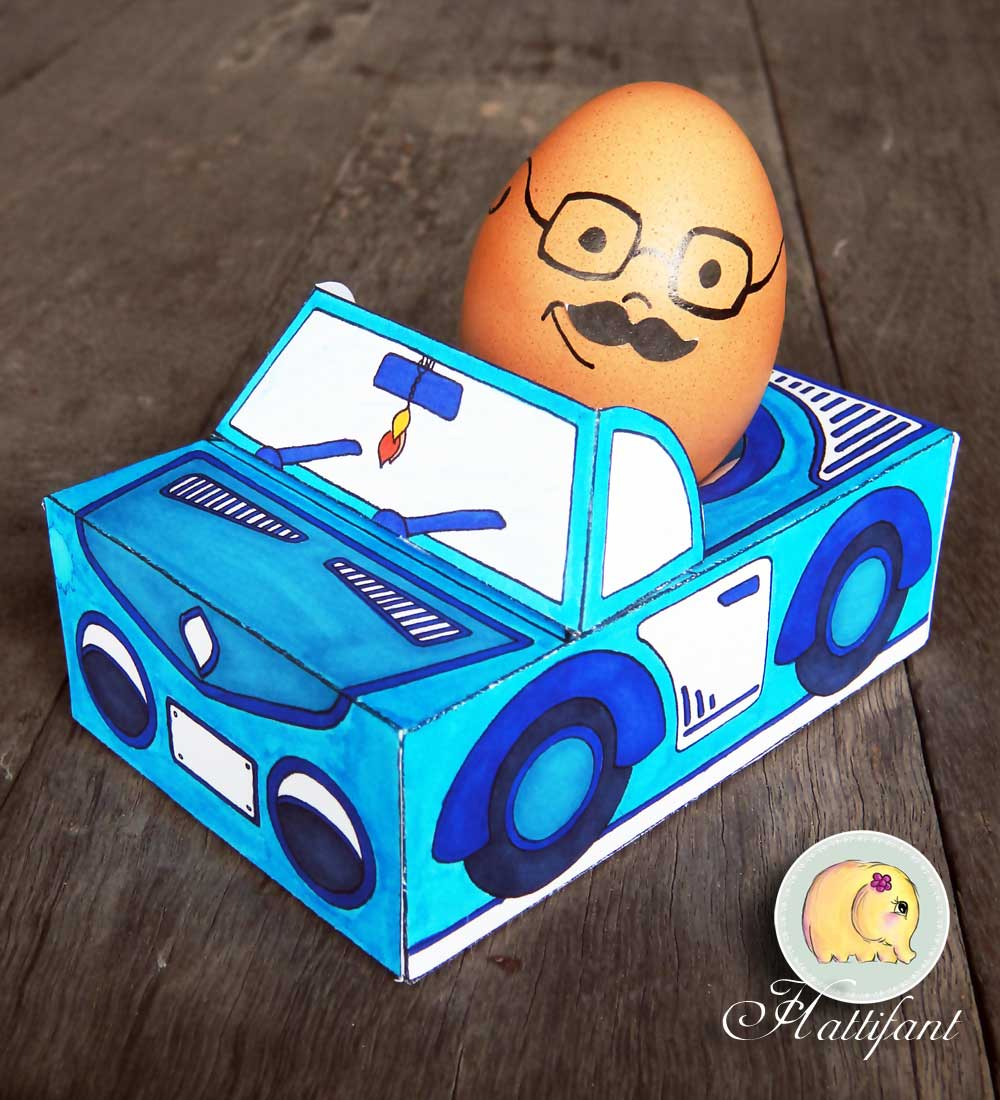 Hattinfant Easter Egg People and Cars Cabri