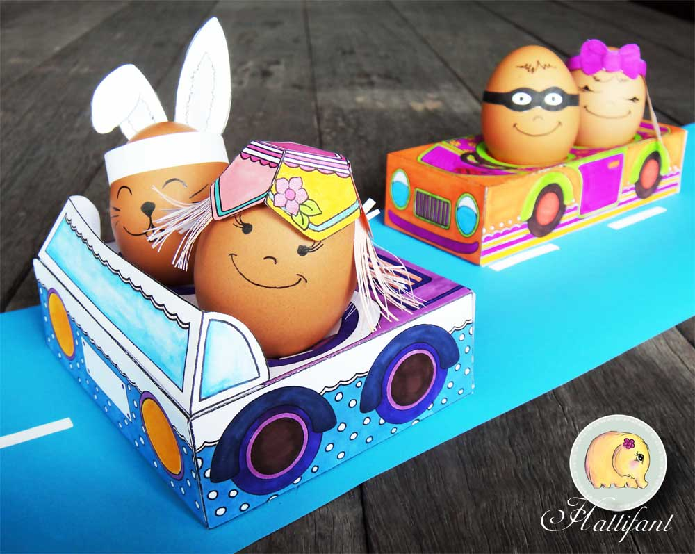 Hattinfant Easter Egg People and Cars Theresa