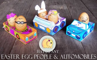 Hattinfant Easter Egg People and Cars