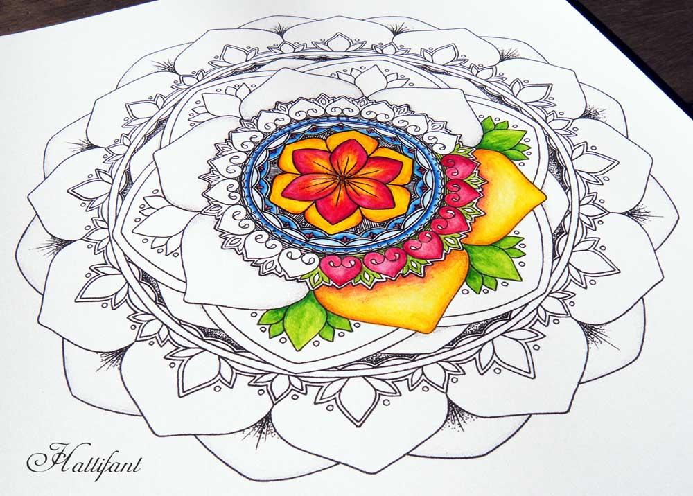 Hattifant Mandalendar Calendar Coloring Page 2016