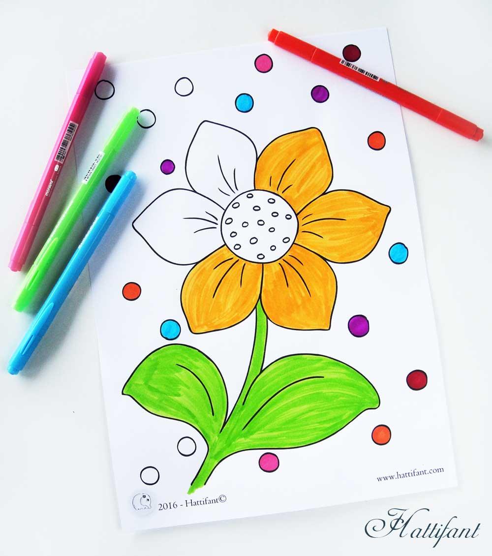 Kids Spring Coloring Pages Hattifant