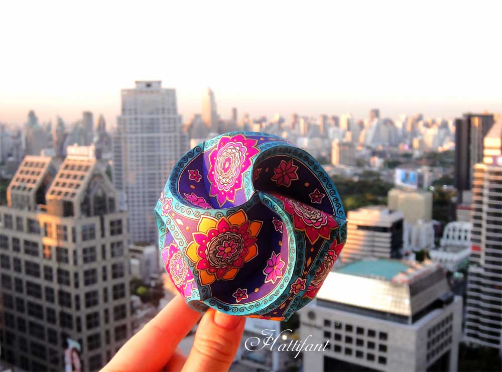 Triskele Paper Globes 3D Coloring Page Craft