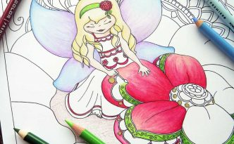 Hattifant's Grown Up Colroing page Fairy painting Spring