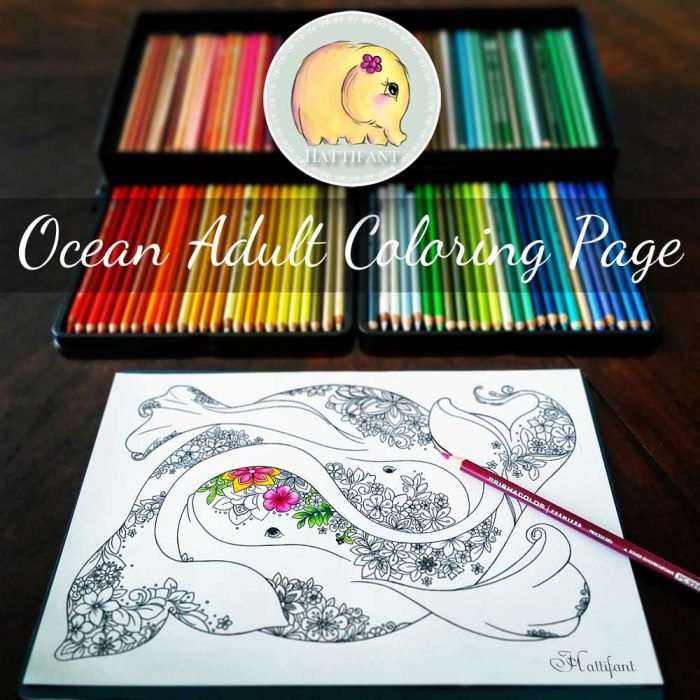Hattifant's Ocean Themed Adult Coloring Page