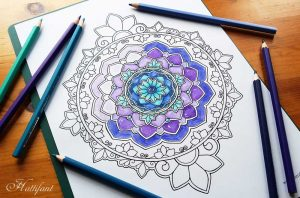 Hattifant Mandala Adult Coloring Papge with Coloring Tribe July 2016