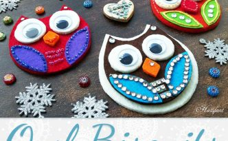Hattifant's Owl Biscuits made with felt