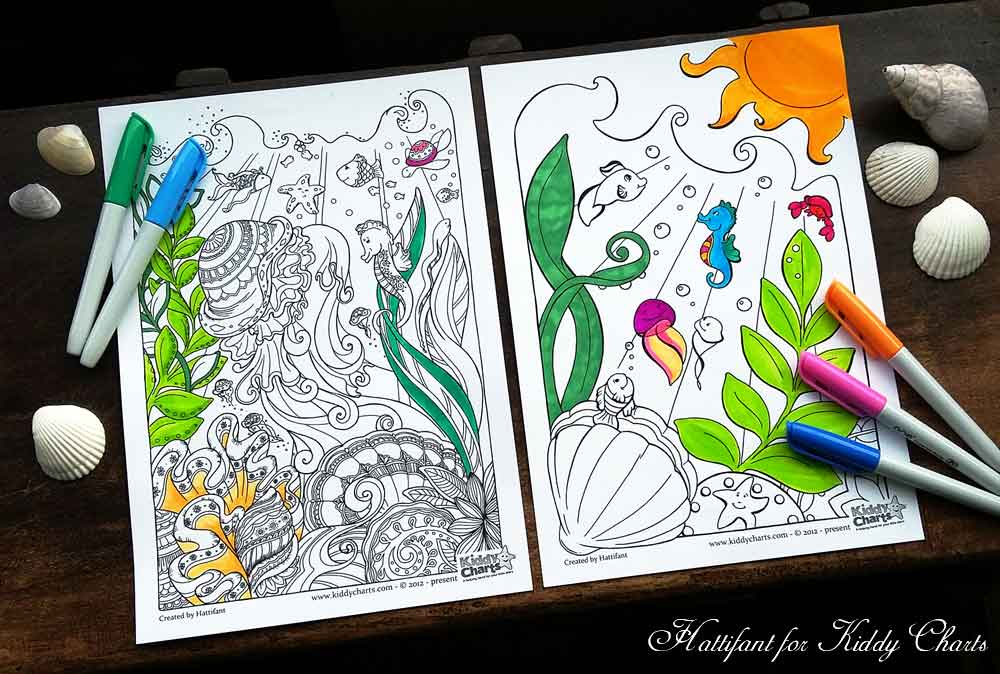 Big Abstract Coloring Pages : Colouring in pages hattifant