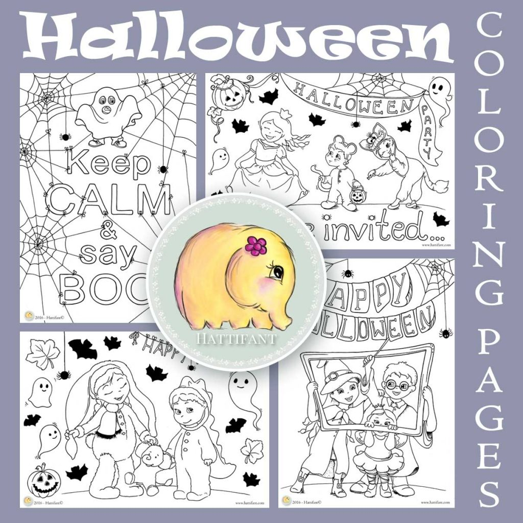 Hattifant Cute Halloween Coloring Pages for kids and adults