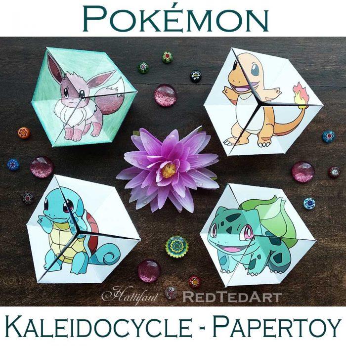 Hattifant pokemon evolution papertoy flextangles kaleidocycle coloring page free printable