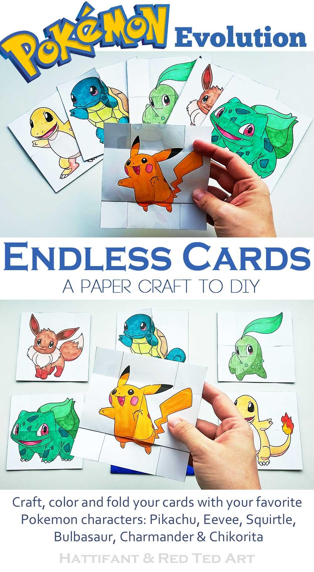 Hattifant Pokemon Evolution Endless Neverending Cards papercraft Printable