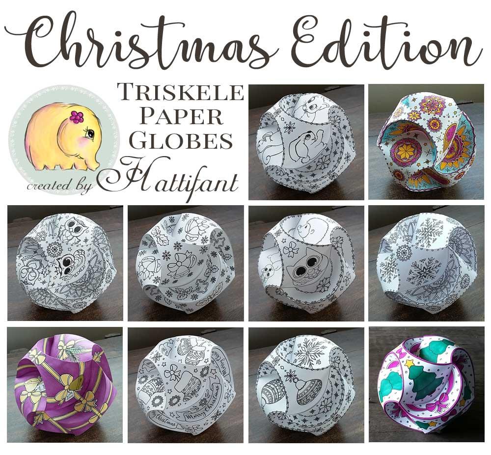 Hattifant Christmas Triskele Paper Globe Set Origami Ball Summary