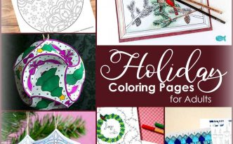 Hattifant's Christmas Holiday Coloring Pages and crafts by Coloring Tribe