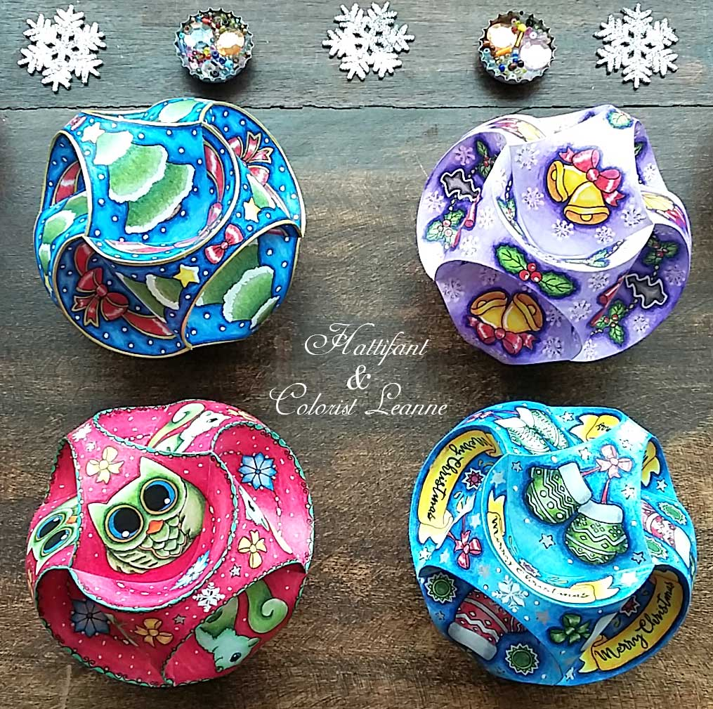 Hattifant Christmas Triskele Paper Globe Set Origami Ball