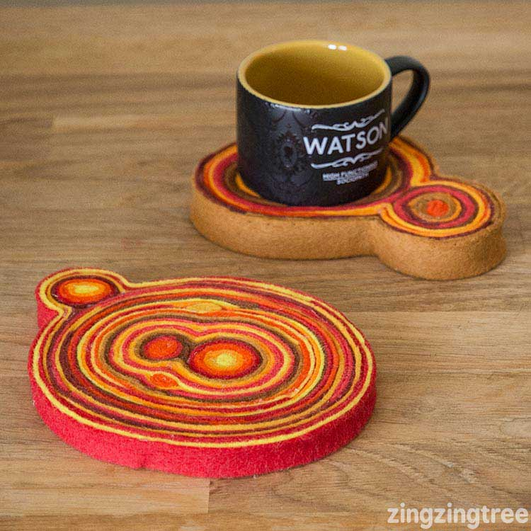 Hattifant favorite Felt crafts Goede Coaster by zingzingtree