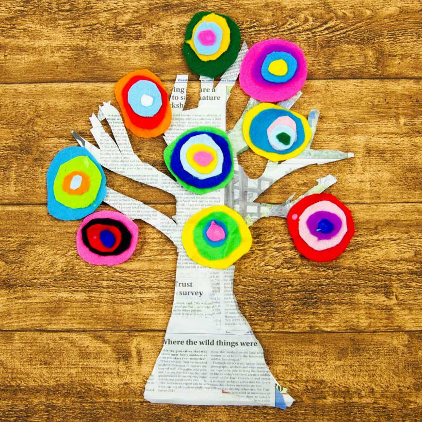 Hattifant favorite Felt crafts Kandinsky inspired tree by The Mad House